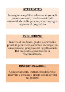 Stereotipi, pregiudizi, discriminazioni